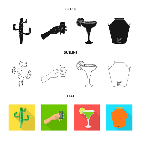 Isolated object of cafe and Latin symbol. Collection of cafe and national vector icon for stock.