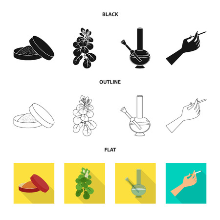 Isolated object of refuse and stop icon. Collection of refuse and habit stock vector illustration. Ilustração