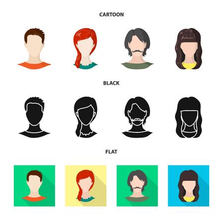Vector design of professional and photo symbol. Collection of professional and profile stock vector illustration. Çizim