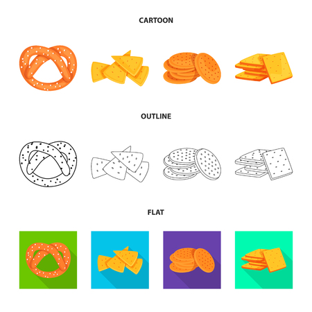 Vector illustration of Oktoberfest and bar logo. Collection of Oktoberfest and cooking stock vector illustration.