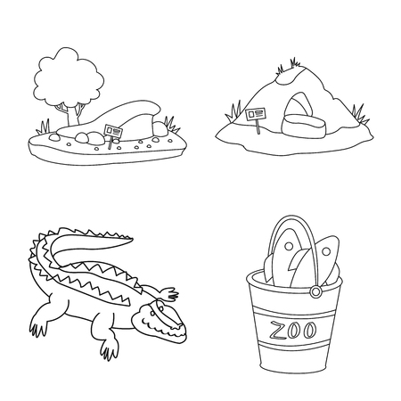 Vector design of entertainment and forest icon. Collection of entertainment and park vector icon for stock.