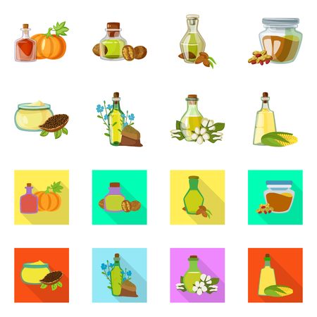 Isolated object of healthy  and vegetable  icon. Collection of healthy  and agriculture stock symbol for web. Reklamní fotografie - 117930646