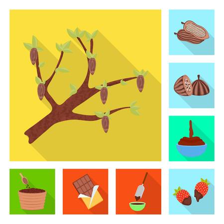 Vector illustration of treat and product sign. Collection of treat and yummy stock vector illustration. Ilustração
