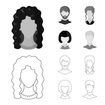 Vector design of professional and photo symbol. Set of professional and profile stock symbol for web. Illustration