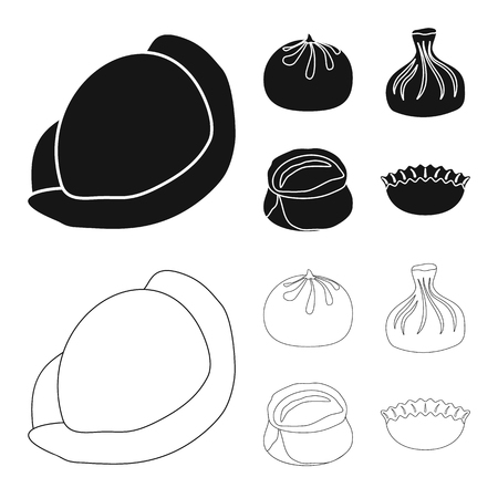 Isolated object of products  and cooking sign. Collection of products  and appetizer stock vector illustration.