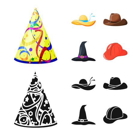 Isolated object of clothing and cap symbol. Set of clothing and beret stock vector illustration. Imagens - 124788662