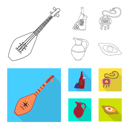 Vector design of culture and sightseeing. Collection of culture and originality stock symbol for web.