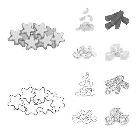 Vector illustration of Oktoberfest and bar logo. Collection of Oktoberfest and cooking stock symbol for web. Illustration