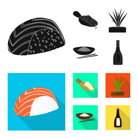 Vector illustration of crop and ecological icon. Collection of crop and cooking stock vector illustration. Ilustração