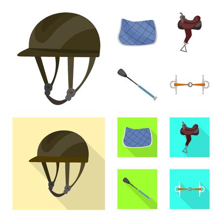 Vector illustration of equipment and riding icon. Collection of equipment and competition stock vector illustration.