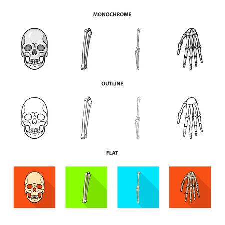 Vector illustration of medicine and clinic symbol. Set of medicine and medical vector icon for stock. Illustration