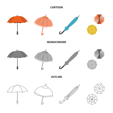 Isolated object of protection and closed icon. Collection of protection and rainy vector icon for stock. Illustration