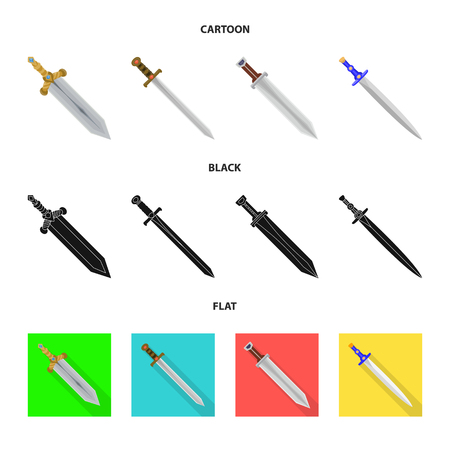 Vector design of game  and armor  icon. Collection of game  and blade  stock vector illustration.
