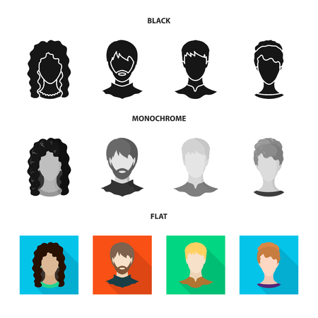 Vector illustration of professional and photo sign. Set of professional and profile stock vector illustration. Illustration
