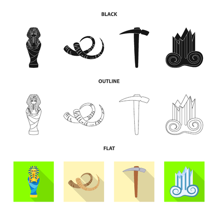Vector design of story and items icon. Collection of story and attributes  stock symbol for web. Illustration