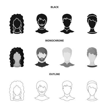 Vector design of professional and photo icon. Collection of professional and profile stock symbol for web.