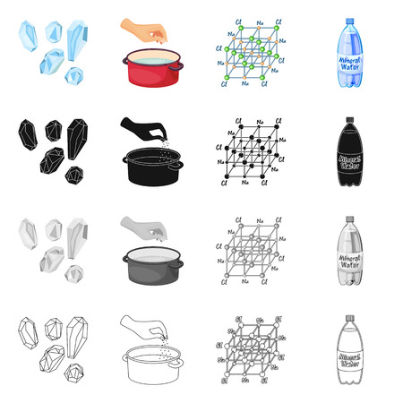Vector illustration of cooking and sea sign. Set of cooking and baking vector icon for stock.