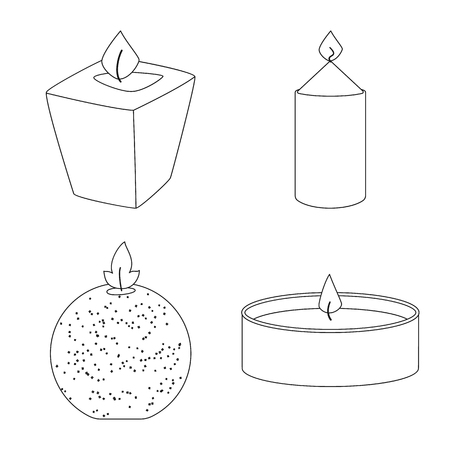Isolated object of source and ceremony  icon. Set of source and fire  stock symbol for web. Ilustração