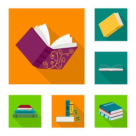 Vector design of illustration and information icon. Set of illustration and cover vector icon for stock. Illustration