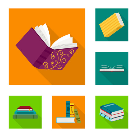 Vector design of illustration and information icon. Set of illustration and cover vector icon for stock. Ilustrace
