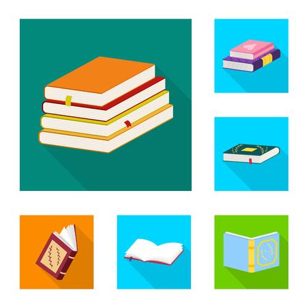 Vector design of illustration and information logo. Collection of illustration and cover vector icon for stock. Çizim