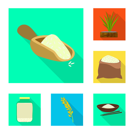 Isolated object of raw and agricultural icon. Set of raw and ecological vector icon for stock.