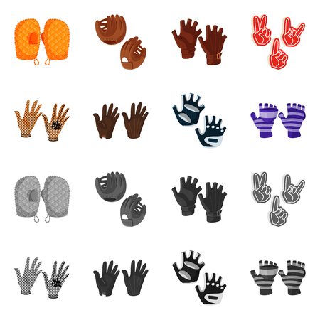 Isolated object of silhouette and safety logo. Collection of silhouette and comfort vector icon for stock.