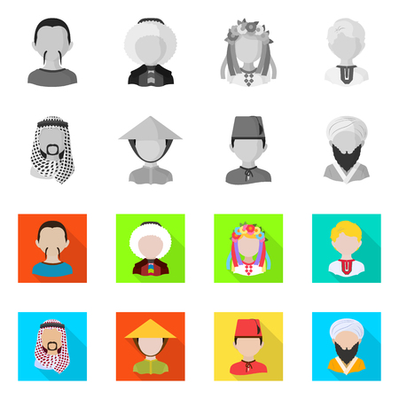 Isolated object of imitator and resident symbol. Set of imitator and culture vector icon for stock. Çizim