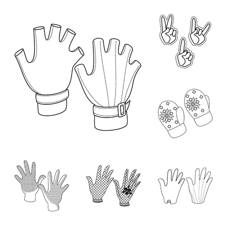Vector design of accessory and style symbol. Set of accessory and distinctive stock vector illustration.