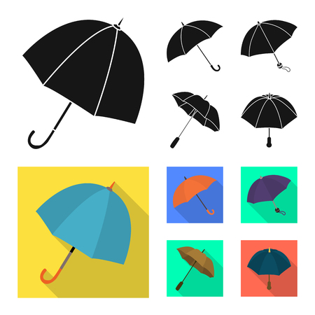 Isolated object of protection and closed sign. Set of protection and rainy stock vector illustration.