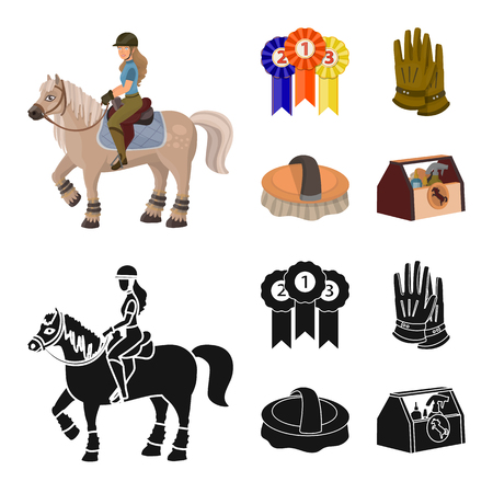 Vector illustration of equipment and riding icon. Collection of equipment and competition vector icon for stock. Фото со стока - 124771625
