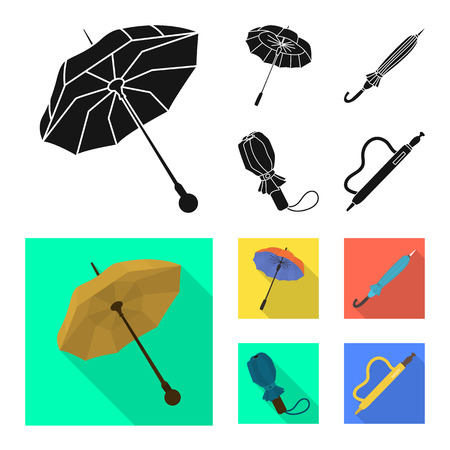 Vector illustration of protection and closed icon. Collection of protection and rainy stock symbol for web. Illustration