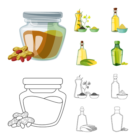 Vector design of healthy and vegetable. Set of healthy and agriculture stock vector illustration.