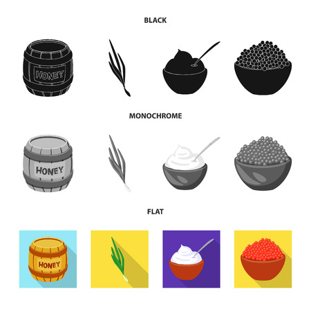 Isolated object of taste and product sign. Set of taste and cooking vector icon for stock. Ilustrace