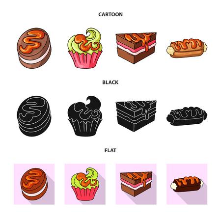 Vector illustration of confectionery and culinary sign. Collection of confectionery and product stock symbol for web. Reklamní fotografie - 124773847