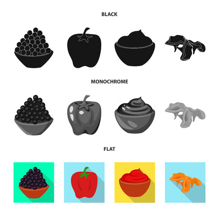 Vector design of taste and product icon. Collection of taste and cooking vector icon for stock.
