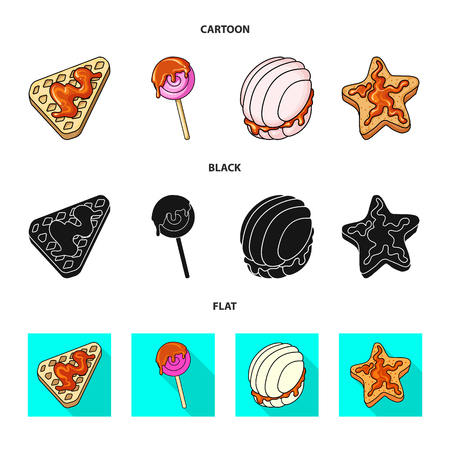 Isolated object of confectionery and culinary symbol. Collection of confectionery and product vector icon for stock. Banque d'images - 124773857