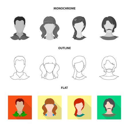 Vector illustration of professional and photo symbol. Set of professional and profile vector icon for stock.