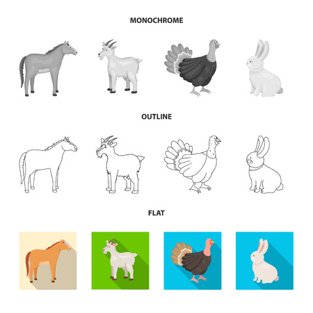 Vector illustration of breeding and kitchen. Collection of breeding and organic  stock symbol for web.
