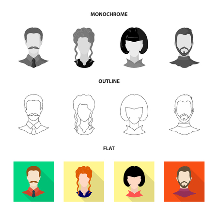 Isolated object of professional and photo icon. Set of professional and profile stock symbol for web.