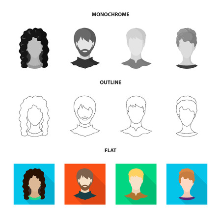 Isolated object of professional and photo icon. Set of professional and profile vector icon for stock. Ilustrace