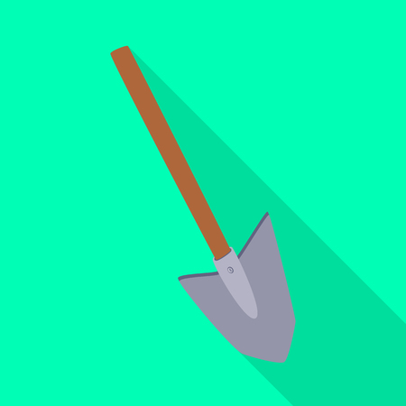 Isolated object of shovel and tool sign. Collection of shovel and construction  stock vector illustration.