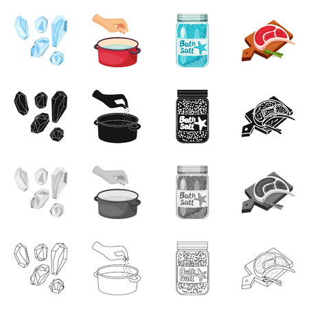 Isolated object of cooking and sea icon. Collection of cooking and baking   stock vector illustration. Ilustração