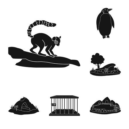 Isolated object of fauna and entertainment icon. Collection of fauna and park stock vector illustration.