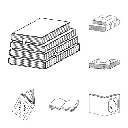 Ilustración de vector de signo de estudio y literatura. Colección de ilustración vectorial de stock de estudio y fuente.