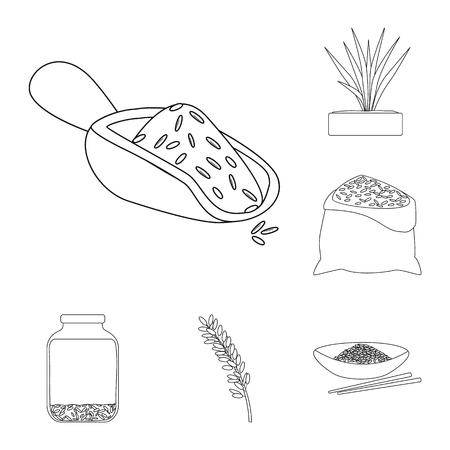 Vector illustration of diet and cooking symbol. Set of diet and organic stock vector illustration. Иллюстрация