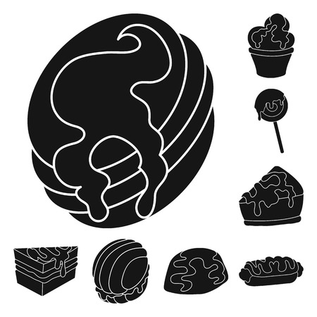 Vector illustration of sweetness and product icon. Collection of sweetness and sweet stock vector illustration. Векторная Иллюстрация