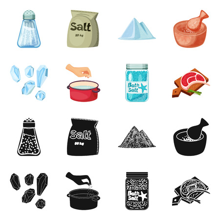 Isolated object of cooking and sea. Set of cooking and baking   vector icon for stock.