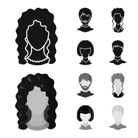 Vector design of professional and photo icon. Collection of professional and profile stock vector illustration. Illustration
