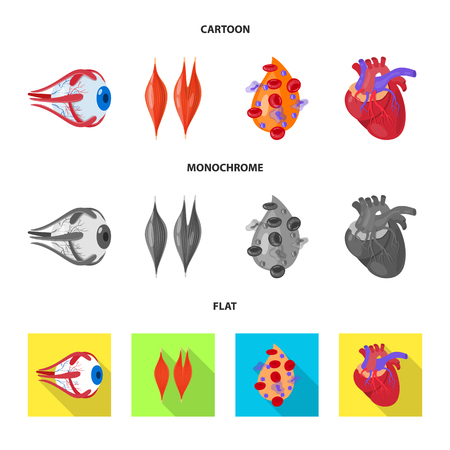Vector illustration of biology and scientific icon. Set of biology and laboratory vector icon for stock.